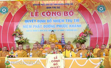 Lễ Bổ nhiệm Trụ trì Niệm Phật Đường Phước Khánh Xã EaKuang