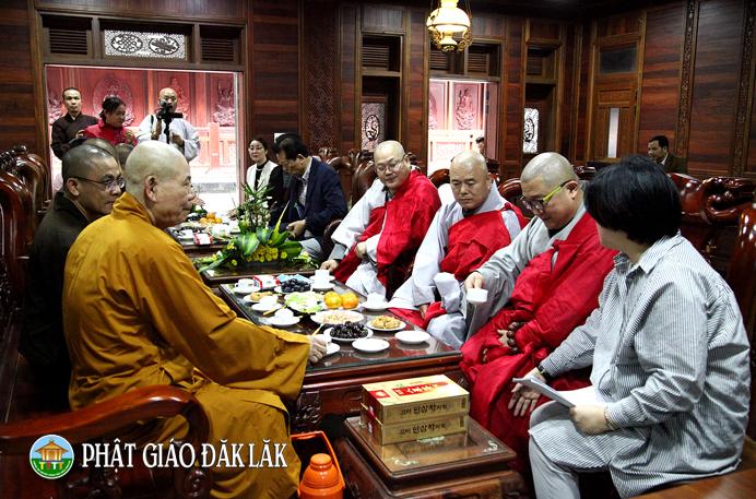 Chùa Sắc Tứ Khải Đoan: Tiếp đón phái đoàn Phật giáo Hàn quốc
