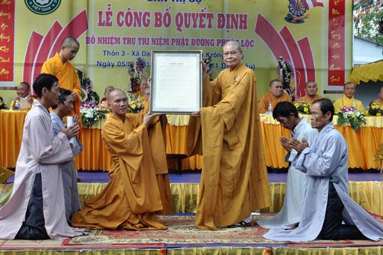 Huyện Krông Bông: Lễ bổ nhiệm trụ trì NPĐ Phước Lộc – Xã Yang Kang
