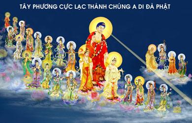 Ảnh đẹp Đức Phật Di Đà và Tây Phương Thánh Chúng