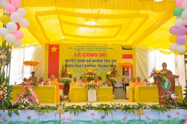 Lễ Bổ Nhiệm Trụ Trì Niệm Phật Đường Trung Hòa Xã ĐliêYa – Huyện Krông Năng.
