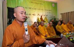 Tham luận tại Đại hội Đại biểu Phật giáo Toàn quốc lần thứ VIII: Phát huy vai trò của Tăng bảo mang lại lợi ích cho cộng đồng xã hội