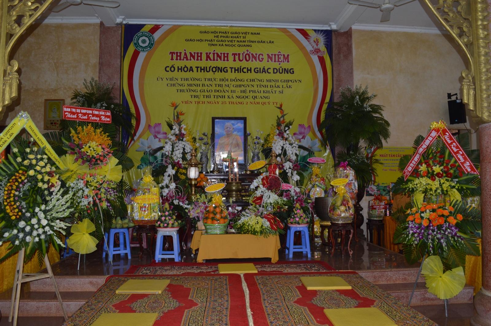 Lễ Tưởng Niệm lần thứ 5 cố Hòa Thượng Thích Giác Dũng tại Tịnh Xá Ngọc Quang