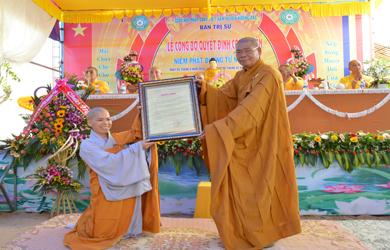 Lễ Công Nhận Chính Thức Niệm Phật Đường Từ Nghiêm Huyện Krông Pắc