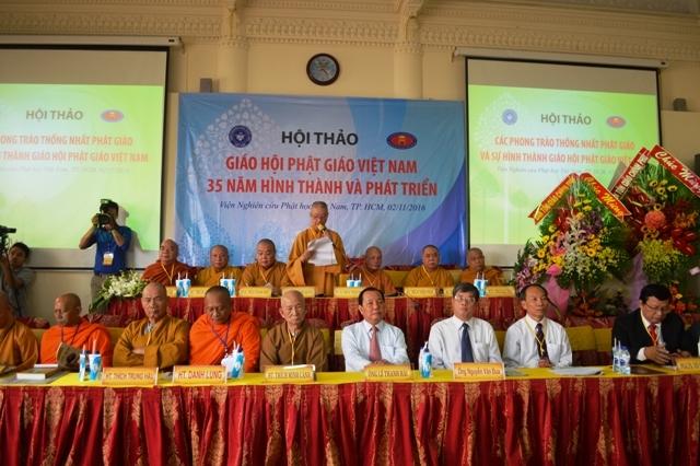 """Ấn tượng Hội thảo """"Giaó hội Phật giáo Viêt Nam 35 năm hình thành và phát triển"""""""