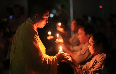 Lễ truyền đăng phát nguyện làm trưởng Liên trại Lộc Uyển VIII – A Dục VI năm 2019