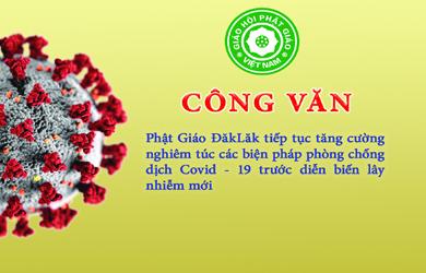 Phật giáo Đắk Lắk: phòng chống dịch Covid-19 trước diễn biến lây nhiễm mới