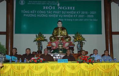 Ban điều hành GĐPT Thị xã Buôn Hồ Hội nghị tổng kết Phật sự  NK 2016 – 2021