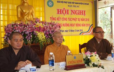 Phật giáo huyện CưMgar tổng kết Phật sự 2018