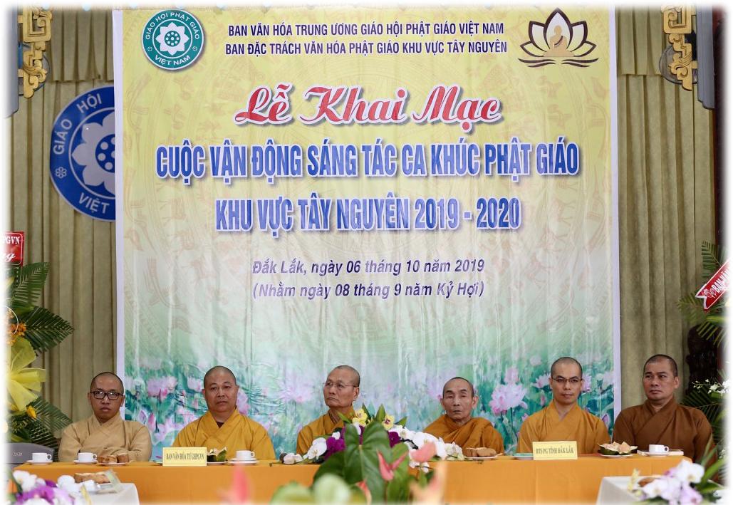 Lễ khai mạc cuộc vận động sáng tác ca khúc Phật giáo khu vực Tây Nguyên