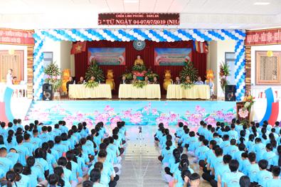 """Khai mạc khoá tu mùa hè """"Suối Nguồn Yêu Thương"""" tại chùa Linh Phong, thị trấn Ea Pôk"""