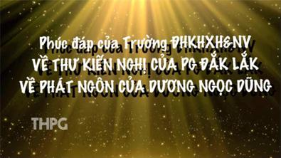 Phúc đáp của trường ĐH KHXH&NV về thư kiến nghị của Phật giáo Đăk Lăk