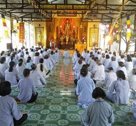 Khánh Hòa: Chùa Sắc tứ Minh Thiện khóa tu Niệm Phật Một Ngày An Lạc lần thứ 72