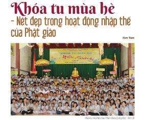Phật tử trẻ Khóa tu mùa hè - Nét đẹp trong hoạt động nhập thế của Phật giáo