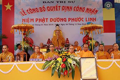 Huyện Krông Pắc: Lễ công nhận Niệm Phật Đường Phước Linh