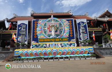 Chùm ảnh Lễ đài Mừng Phật đản PL 2562 tại một số chùa, Tịnh xá trong TP. Bưôn Ma Thuột