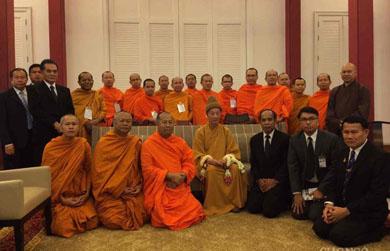 HT.Thích Trí Quảng dự lễ trà-tỳ Đức Tăng thống Thái Lan