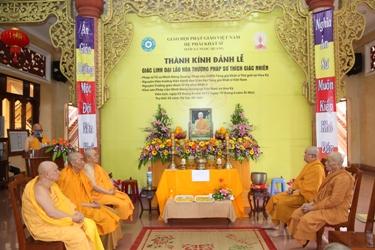 Chư tôn đức Tăng Ni, Phật tử Hệ phái Khất sĩ tại tỉnh Dak Lak tổ chức Lễ Truy niệm và thọ tang cố Đại lão Hòa thượng Pháp sư Thích Giác Nhiên.