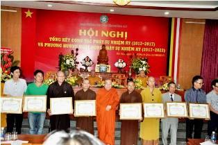 Ban Thông tin Truyền thông Dak Lak được Tặng Bằng Tuyên Dương Công Đức tại Hội nghị Tổng kết  Phật sự Nhiệm kỳ I (2012-2017)