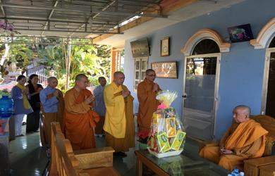 BTS.PG huyện Cư Mgar chúc tết Chư Tôn giáo phẩm Ban Trị sự Phật giáo tỉnh ĐakLak