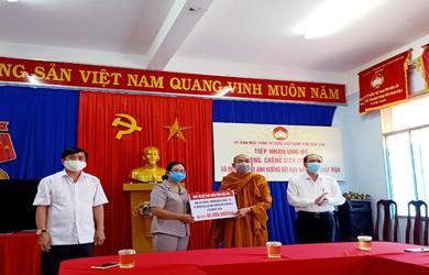 Phật giáo Đắk Lắk ủng hộ Phòng chống dịch COVid-19