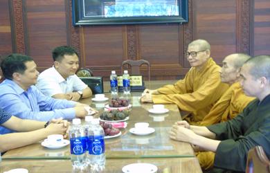 Ban Trị sự PG Đắk Lắk tiếp phái đoàn cục An ninh nội địa - Bộ Công an