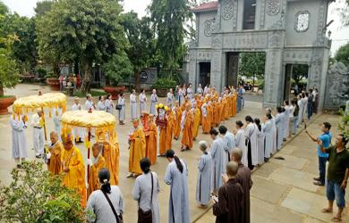 Cung thỉnh Giác linh Ni trưởng Thích nữ Chúc Như tham Phật, yết Tổ tại Tổ đình Sắc tứ Khải Đoan