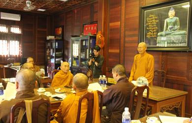 Phiên họp triển khai kế hoạch cứu trợ miền Trung và định kỳ quý IV của Thường trực Ban Trị sự Phật giáo Tỉnh