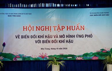 Khánh Hòa: Hội nghị tập huấn biến đổi khí hậu và mô hình ứng phó với biến đổi khí hậu