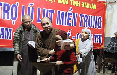Phật giáo Đắk Lắk: Hướng về đồng bào vùng lũ tỉnh Quảng Nam