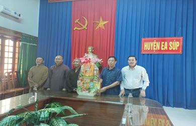 EaSup: Ban Trị sự GHPGVN huyện chúc tết Chính quyền