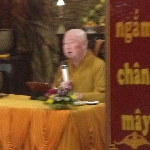 Buổi thuyết giảng của Hòa thượng Thích Duy Trấn tại chùa Hoa nghiêm