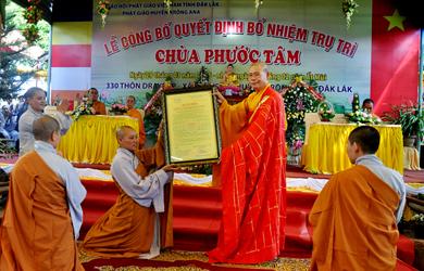 Lễ Bổ Nhiệm Trụ Trì Chùa Phước Tâm (thuộc địa bàn xã Dray Sáp, huyện Krông Ana)