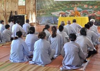 Thiền Viện Trúc Lâm Tự Giác mở khóa tập tu