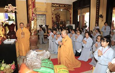 Đắk Lắk: Chùa Sắc Tứ Khải Đoan Cúng dường Trường hạ ba tỉnh miền Trung PL 2564.