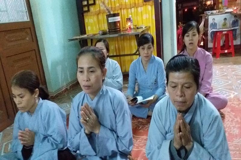 Chùa Quảng Giang, huyện EaHleo tổ chức tụng Kinh Pháp Hoa, cầu an cho các GĐ Phật tử