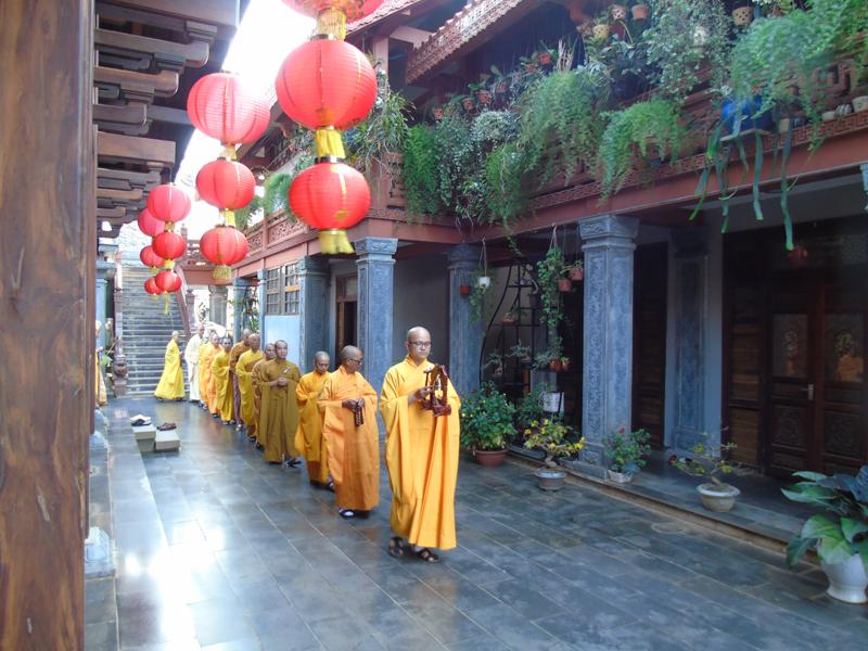 Lễ cầu an đầu năm tại chùa Sắc tứ Khải đoan TP. BMT