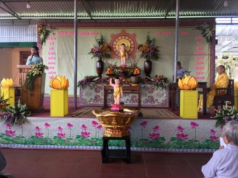 Chùa Huệ Nghiêm huyện Eahleo Long trọng tổ chức Đại lễ Phật Đản PL.2563 DL.2019