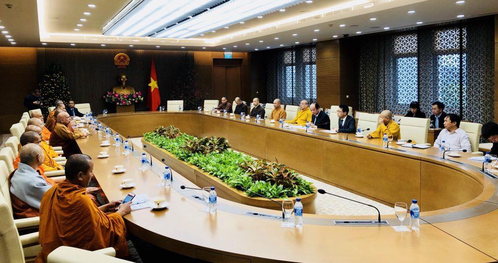 Bộ Trưởng, Chủ nhiệm Văn phòng Chính phủ tiếp chuyện thân mật Ủy ban Tổ chức Đại lễ Phật đản Vesak Liên Hiệp Quốc 2019