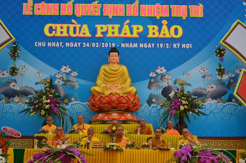 Lễ công bố quyết định bổ nhiệm trụ trì chùa Pháp Bảo huyện CưM