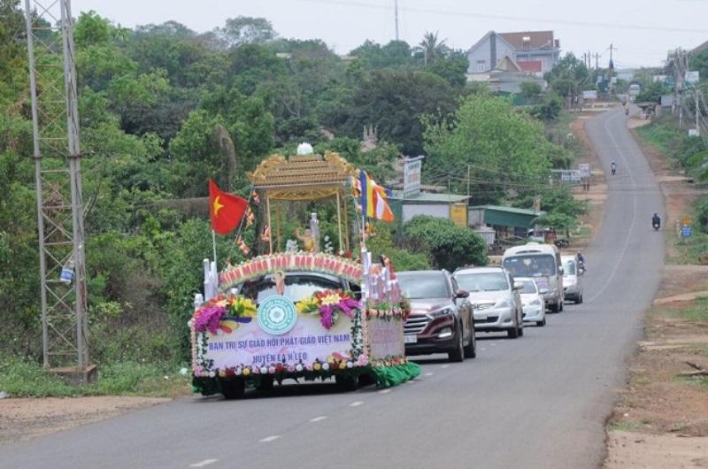 GHPGVN huyện Eahleo tổ chức rước Phật Đản Sanh tại chùa Sắc Tứ Khải Đoan Thành Phố BMT