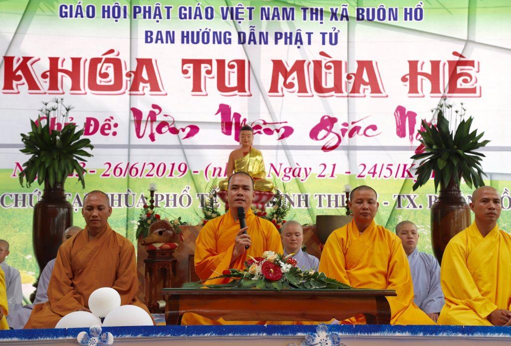 Khai mạc khóa tu mùa hè năm 2019 tại chùa Phổ Tế thị xã Buôn Hồ