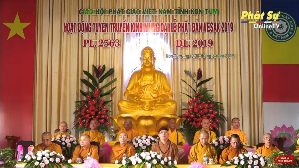 Kon Tum: Lễ mít tinh tuyên truyền Đại lễ Phật đản Liên Hợp Quốc Vesak 2019 tại Việt Nam