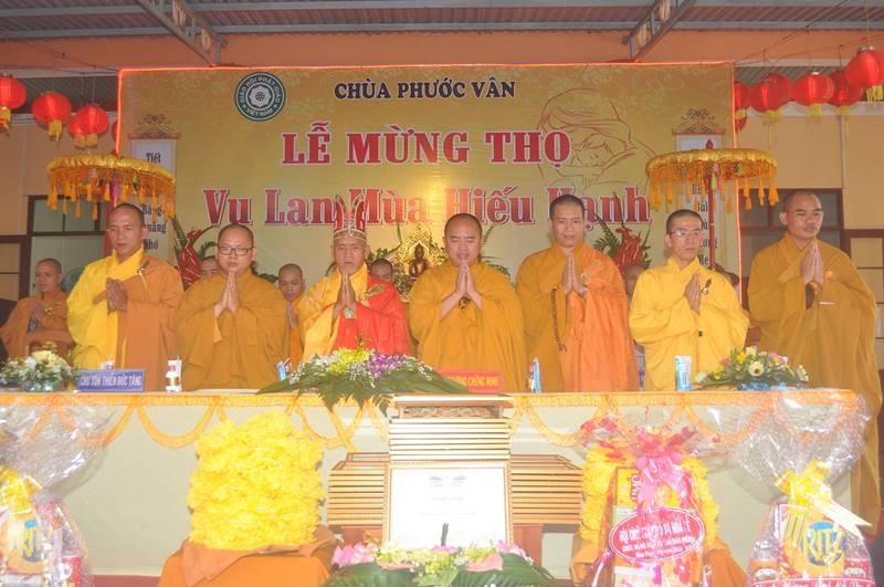 Chùa Phước Vân tổ chức lễ mừng thọ, Vu Lan Báo Hiếu PL.2563