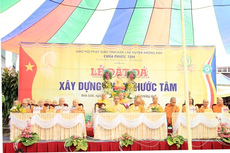Lễ đặt đá xây dựng chùa Phước Tâm, xã Drây Sáp, huyện Krông Ana