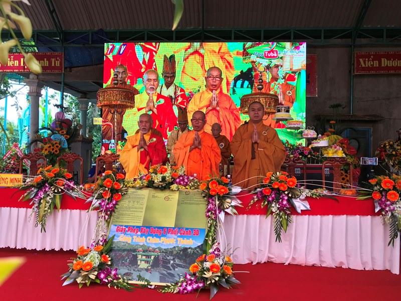 Lễ đặt đá xây dựng chùa Phước Thành, xã  Ea Yông, huyện Krông Pắc