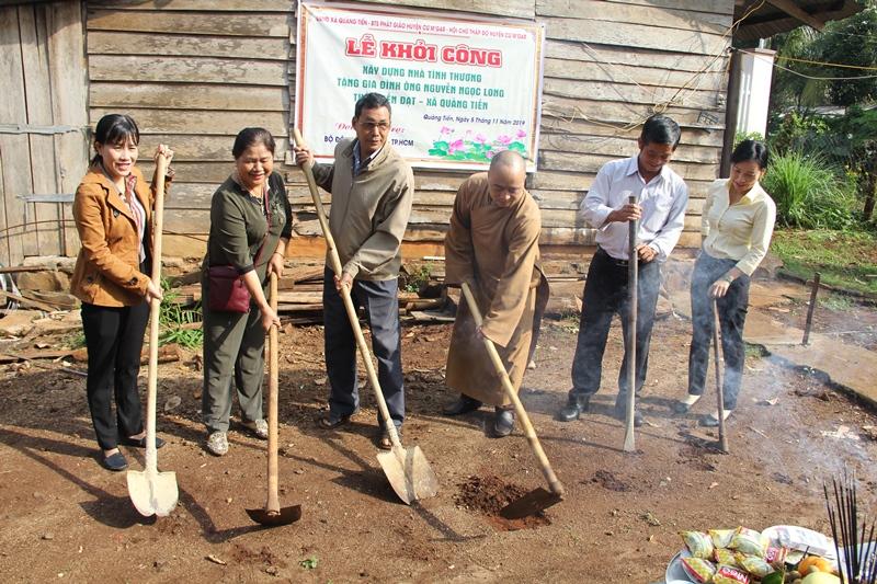 Khởi công xây dựng căn nhà tình thương tại xã Quảng Tiến, huyện Cưmgar