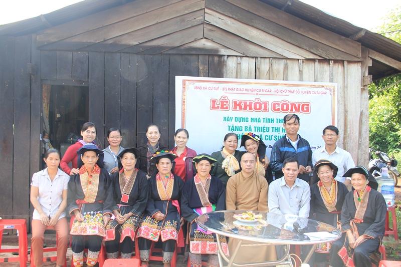 Khởi công xây dựng nhà tình thương tại thôn 5, xã Cư Suê, huyện Cưmgar