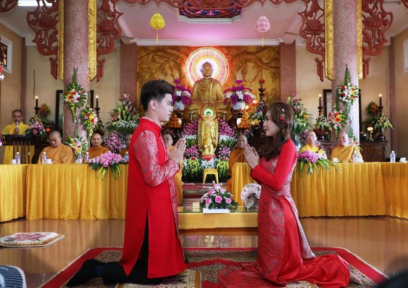 Lễ Hằng thuận Quang Minh-Bảo Trâm tại tịnh xá Ngọc Quang, Tp.BMT