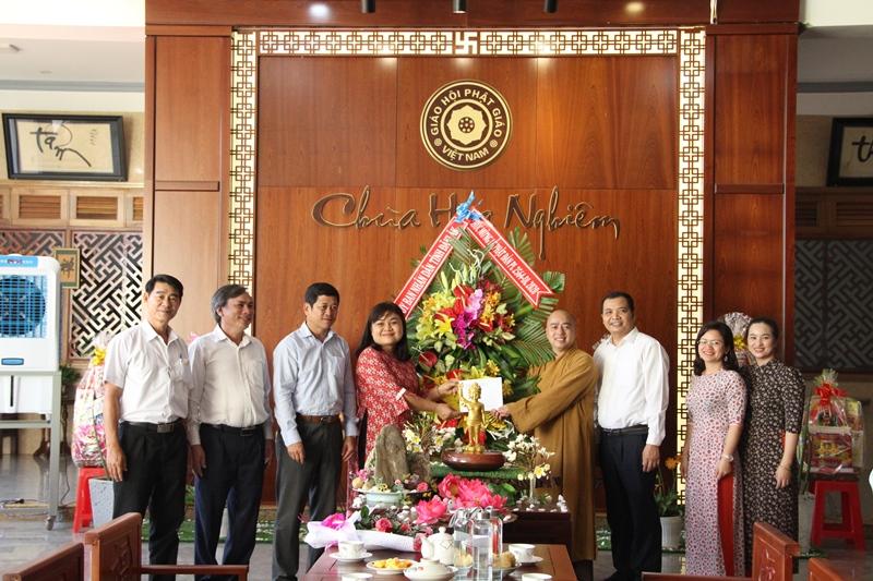 UBND tỉnh thăm, chúc mừng Ban Trị sự Phật giáo huyện Cư M'gar